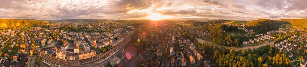 Pano_Burgdorf_Sunset